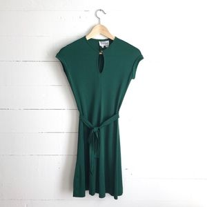 Vintage Emerald Green Dress Tracy Petites XXS